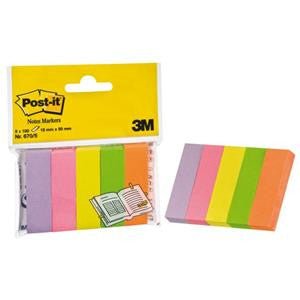 "Post-it®  1/2"" Page Markers, 5 Assorted Colors, 100 sheets/color (670)"