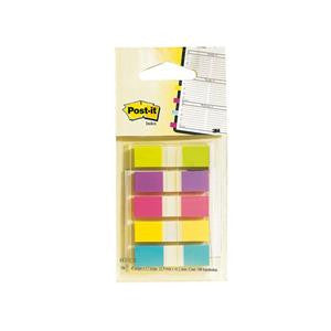 "Post-It® 1/2"" Index Tabs, 5 Assorted Colors, 20 sheets/color"