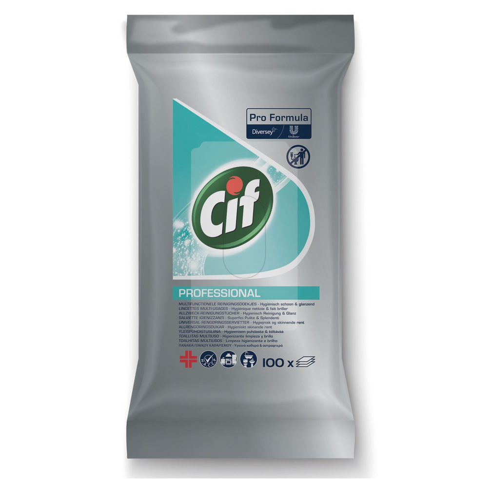 Cif Professional Multi-Purpose Cleaning Wipes Flow Pack of 100