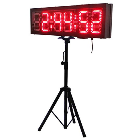 LED Race Clock with Tripod for Running Events