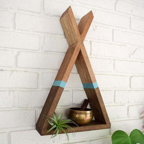 Two Tone Teepee Shelf