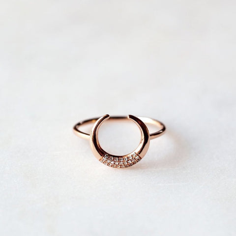 Horn Pave Ring