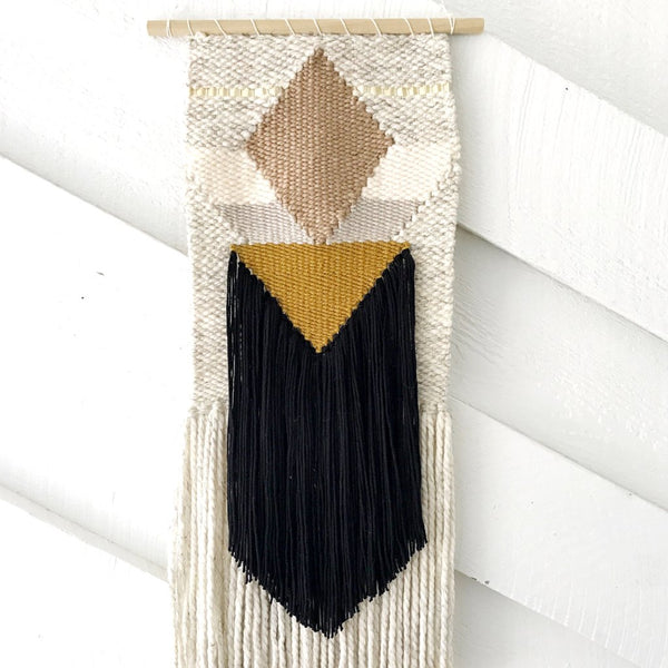 Golden Black Geometric Weaving