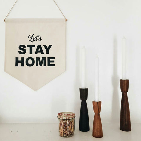 Let's Stay Home Banner