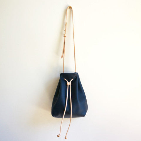 Claudia Deep Blue Bucket Bag