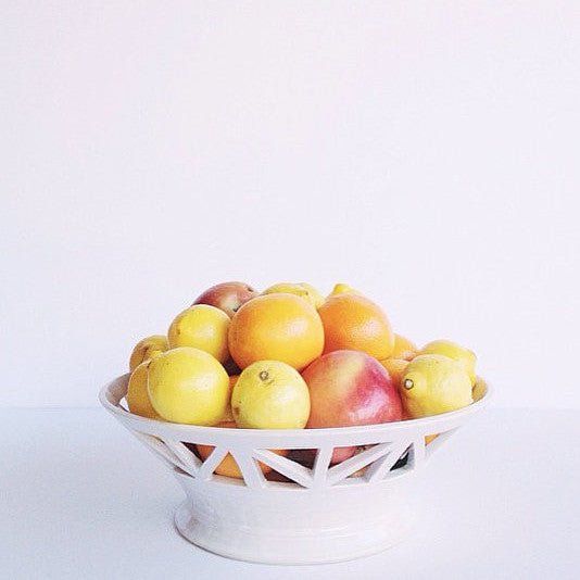 Structured Ivory Fruit Bowl