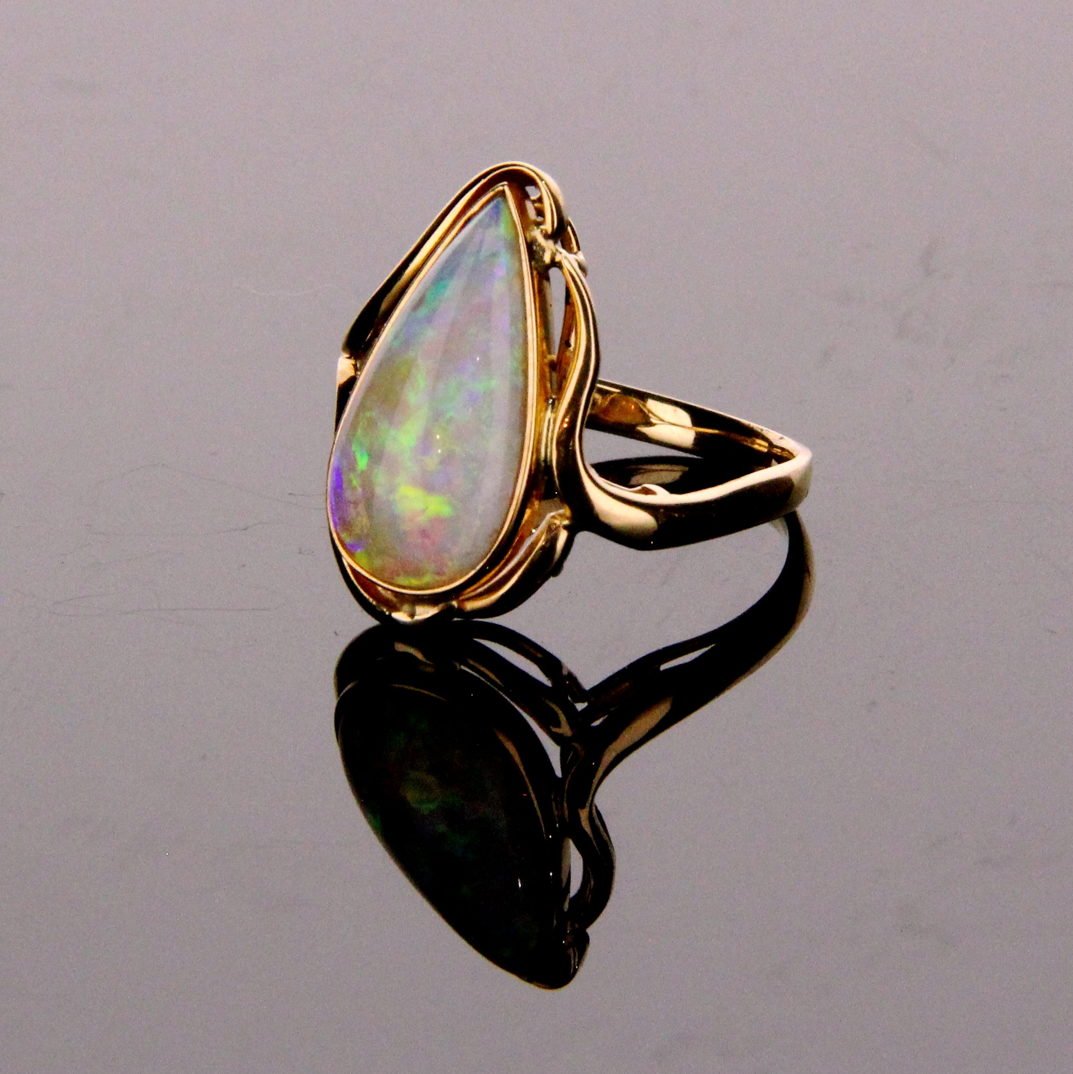 Crystal Opal Ring