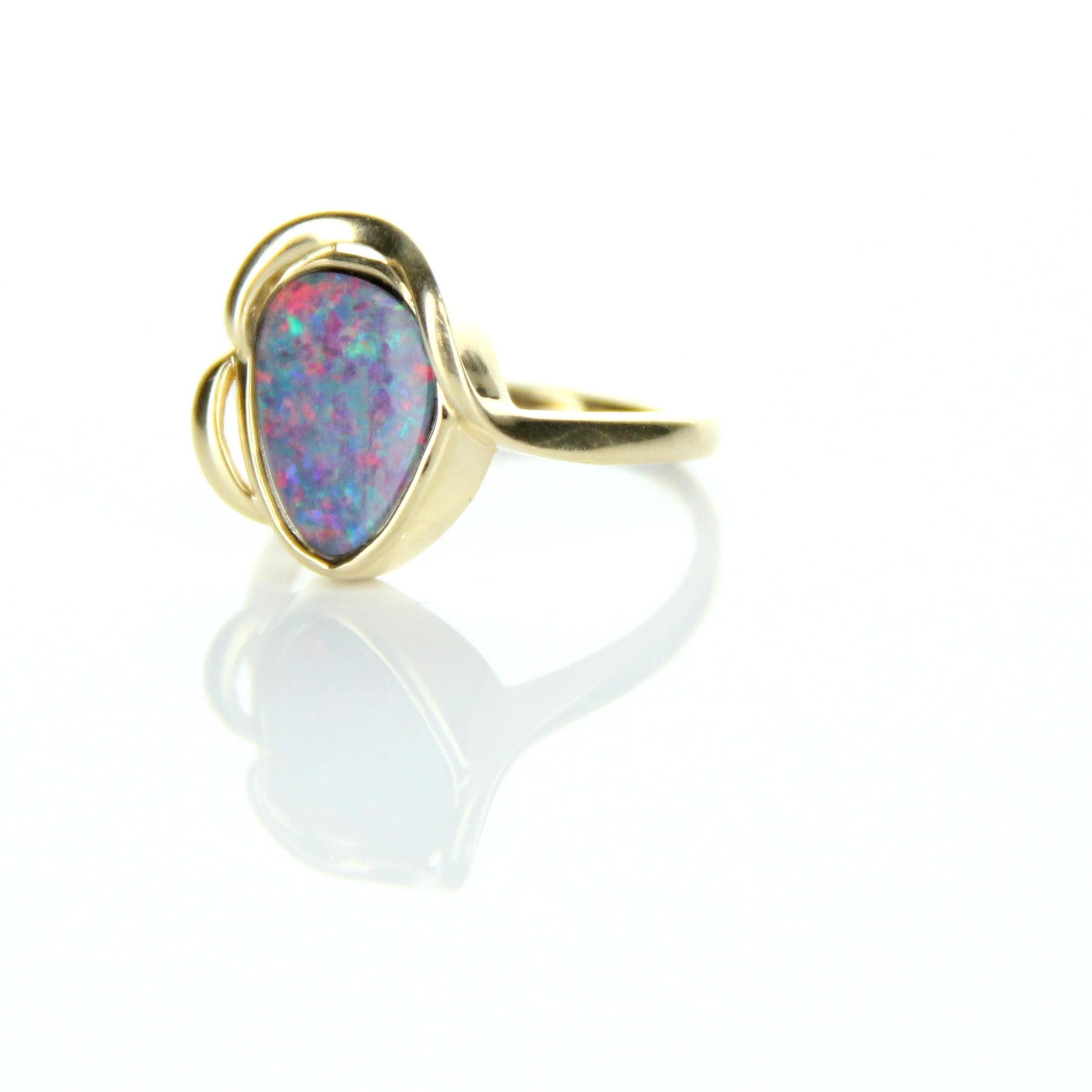 Doublet Opal Ring