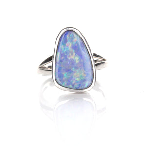 3.54ct Doublet Opal Ring