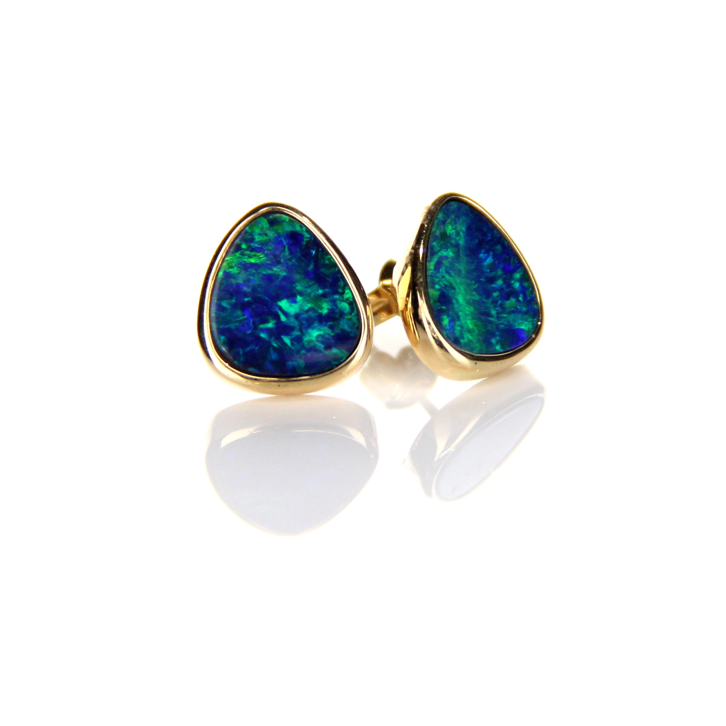 4.20ct Doublet Opal Earrings