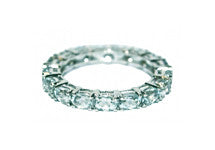 Aquamarine Eternity Ring