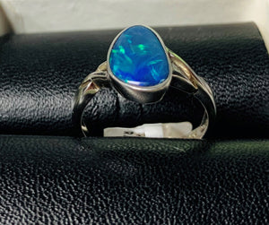 Doublet Opal Ring 1.58ct Sterling Silver