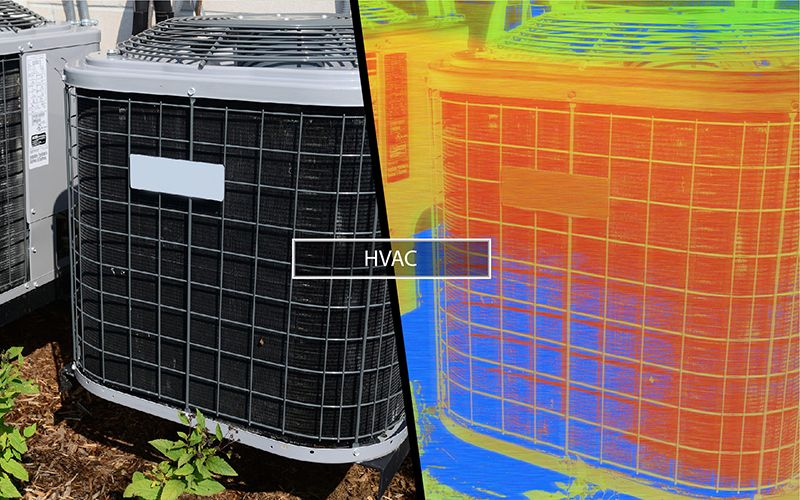 HVAC with thermal imaging