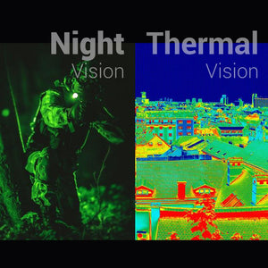 soldier night vision and city thermal