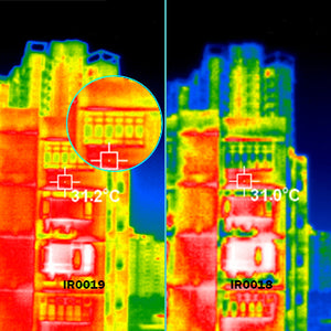 Thermal image of building