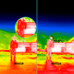 Thermal imaging camera of man