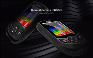 Two IR0006 thermal camera with black patterned background