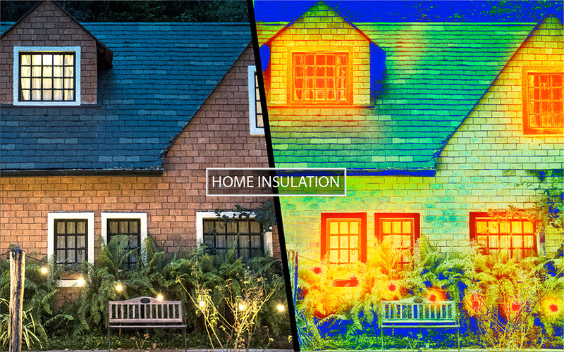 thermal overlay of home insulation