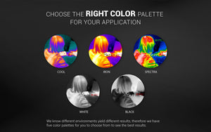 5 different color image of women in thermal
