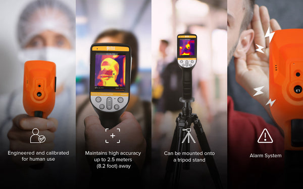 4 portraits showing key uses of thermal camera IR0280H