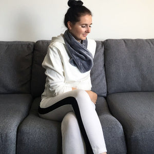 young women in white tracksuit with perfectprime electric scarf