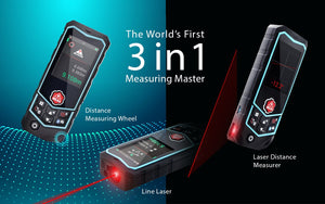 3 PerfectPrime laser distance measure banner 3 in 1