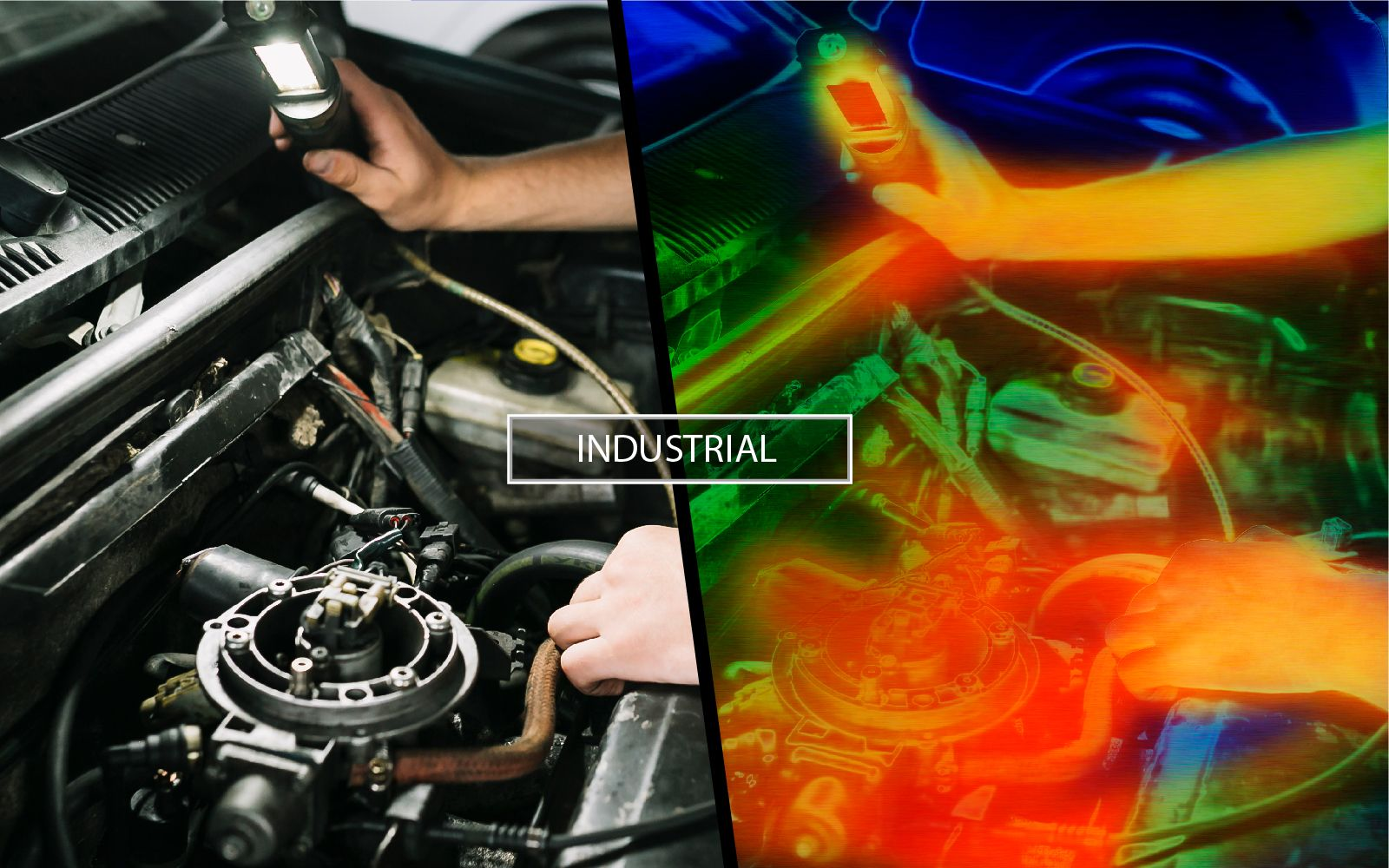 Thermal camera for engine diagnostics