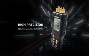 PerfectPrime black thermocouple thermometer with 4 k type probes banner