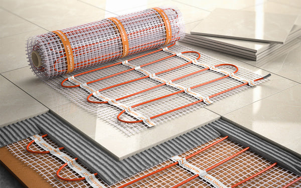 conductor coils for underfloor heating