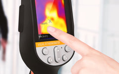 finger on thermal camera screen
