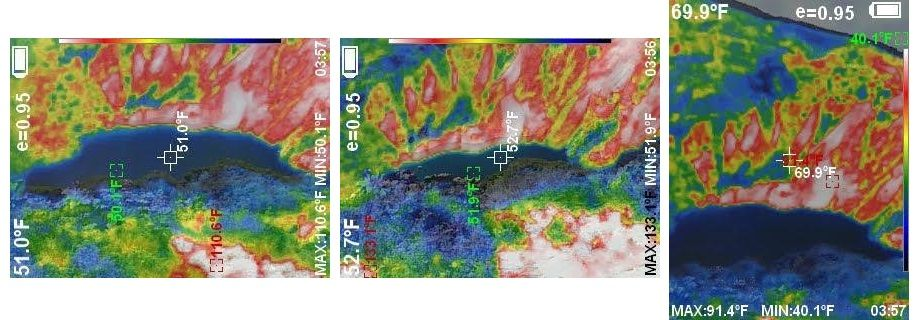 thermal image of Irazu Volcano Main Crater
