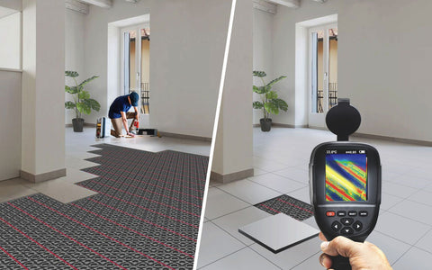 thermal camera showing exact spot of problem vs taking the whole floor apart