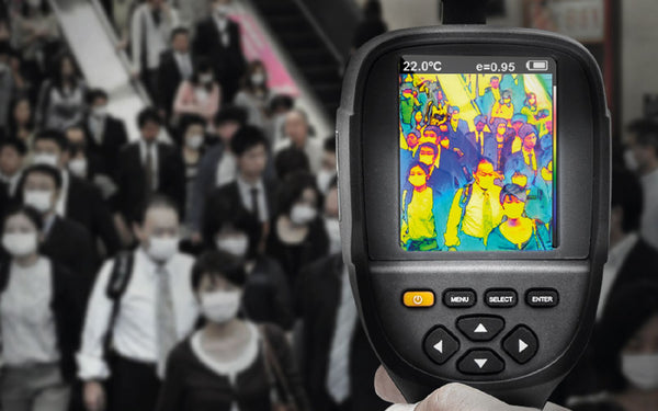 Thermal Camera scanning crowds