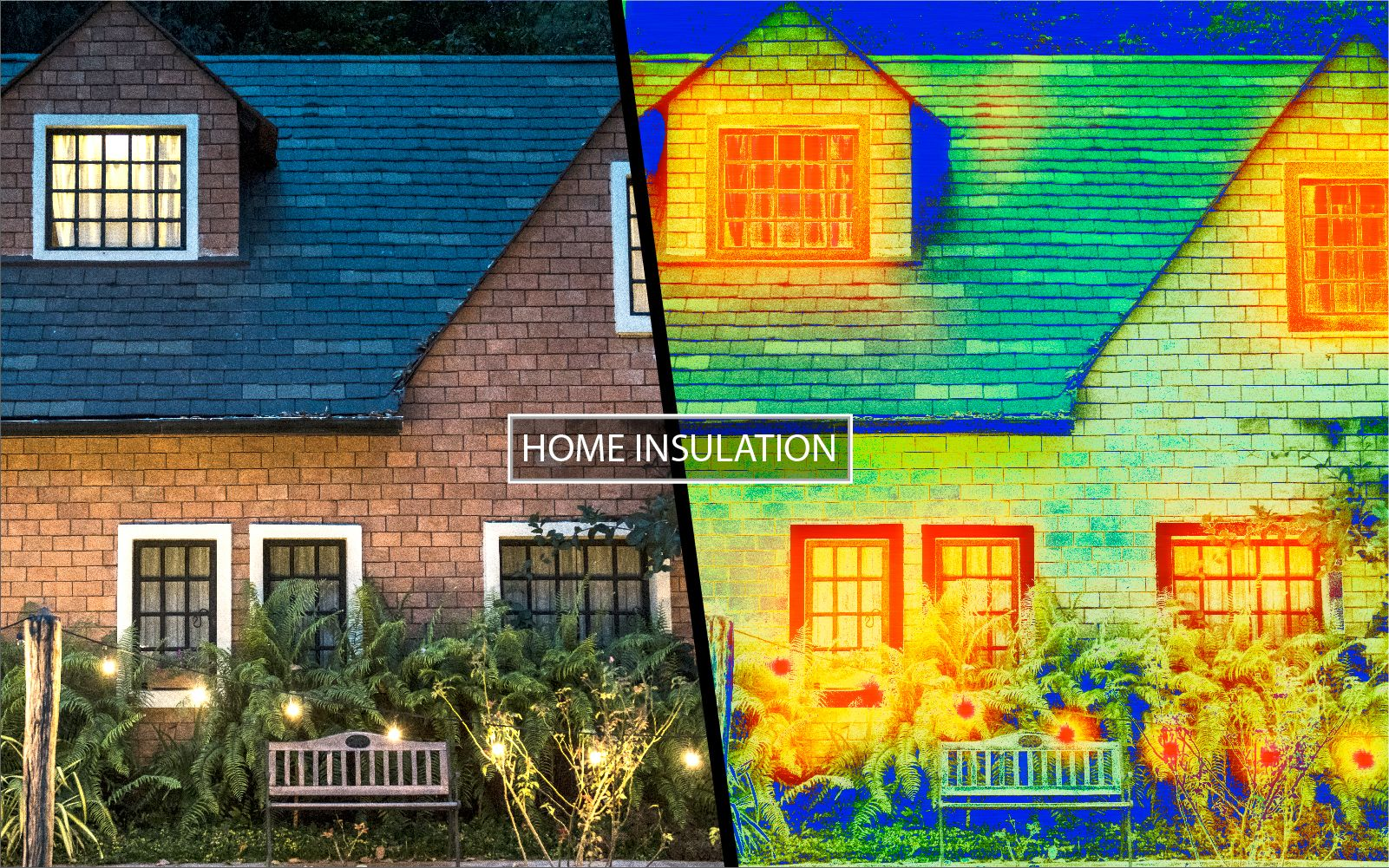check home insulation with a thermal camera
