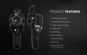 Perfect prime IR0019 handheld thermal camera product features