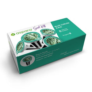 PerfectPrime blue curled kale seed kit box