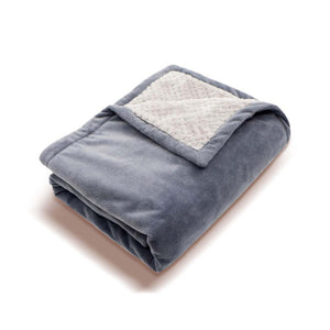 Soft Fleece Portable USB Power Heating Throw Shoulder Blanket, Grey Scarf, Tilt View
