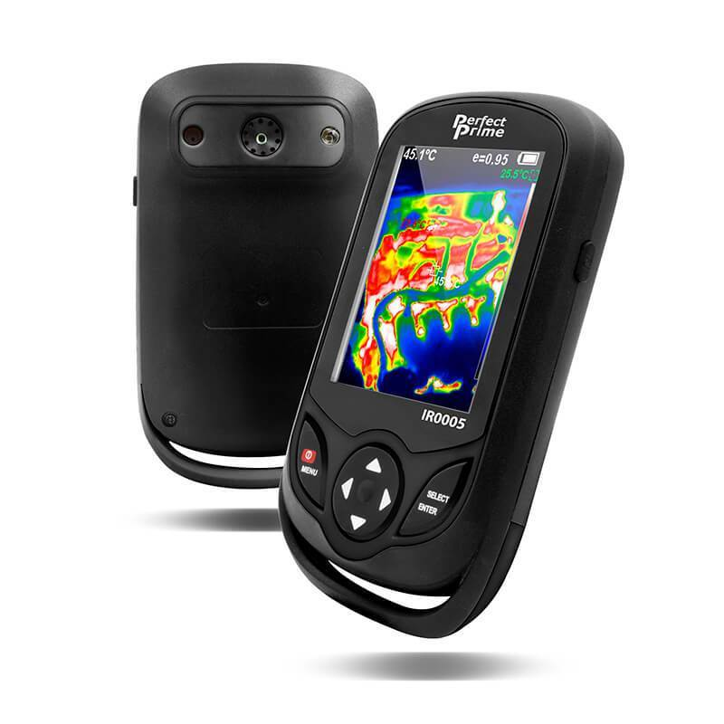 PerfectPrime Handheld pocket sized Thermal imager camera front and back