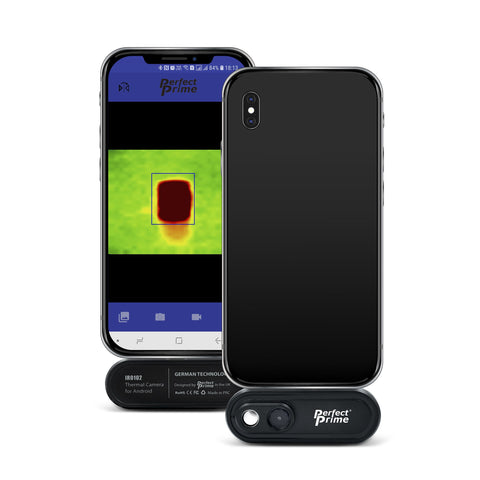 PerfectPrime Ir0102 thermal camera for android front and back