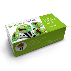 Mixed lettuce Seed Kit box