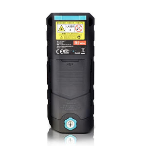 Laser Distance Range Measuring Meter, Black Device, Back View