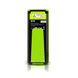 Laser Distance Digital Diastimeter With Clip Water & Dust proof, Green Device, Back View