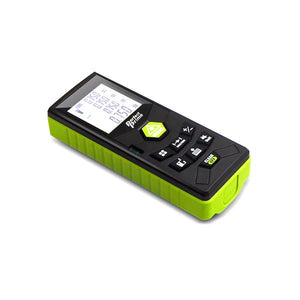 Laser Distance Digital Diastimeter With Clip Water & Dust proof, Green Device, flat Bottom View