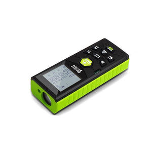 Laser Distance Digital Diastimeter With Clip Water & Dust proof, Green Device, Flat View
