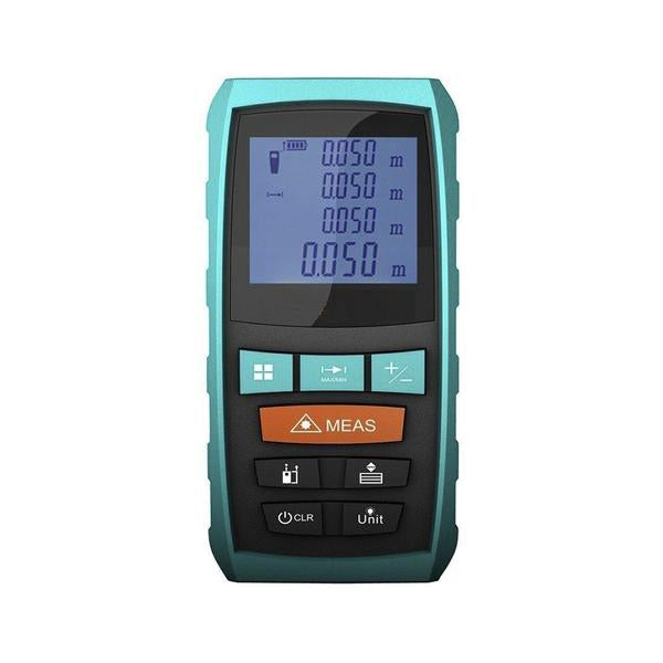Laser Distance Digital Range Finder Meter Diastimeter Measuring Device, Black Device, Front View