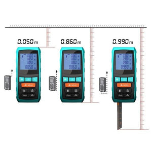 Laser Distance Digital Range Finder Meter Diastimeter Measuring Device, Black Device, Metrics View