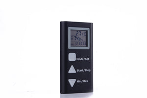 TEMPERATURE HUMIDITY DATA LOGGER unit, side view