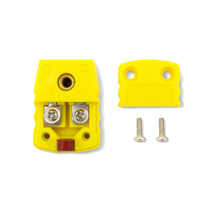 K-Type Female Flat Connector, Yellow Device, Open View
