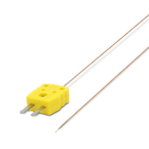 0.13mm Diameter, K-Type Sensor Probe for K-Type Thermocouple, flat