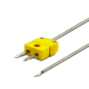 k type sensor probe with metal probe side by side